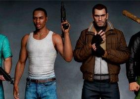 Clássicos personagens do GTA remasterizados