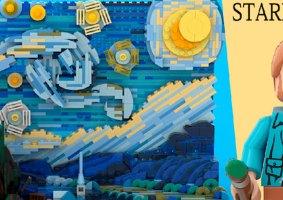 O conjunto de LEGO 3D de A Noite Estrelada