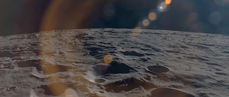 Contemple uma órbita Lunar em tempo real
