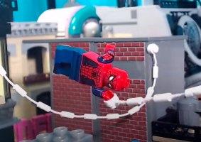 Stop-motion de LEGO do Homem-Aranha traz muitos detalhes e ação