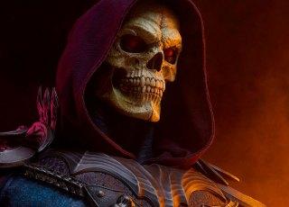 Busto em tamanho real do Esqueleto custa US$ 1.000