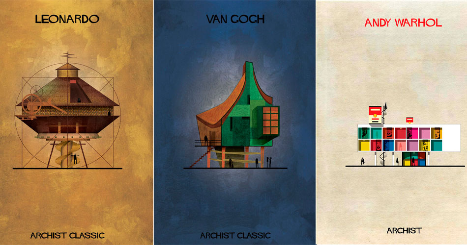 Como seriam as casas de artistas se eles fossem os arquitetos