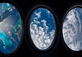 Astronauta compartilha fotos de sua janela no espaço
