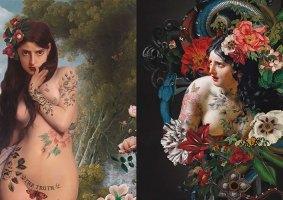Arte moderna e Renascimento se juntam nas obras de Benedicte Piccolillo