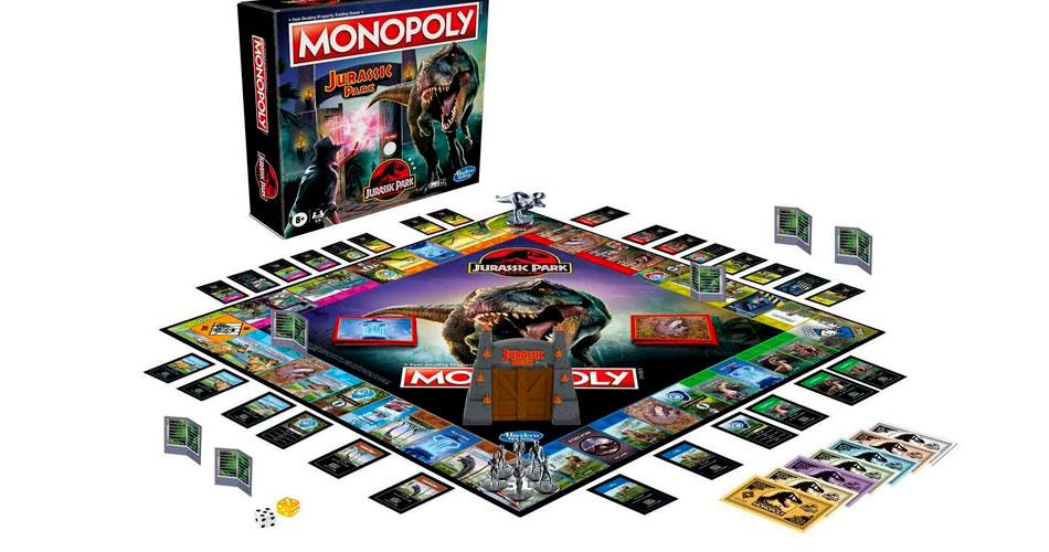 Monopoly do Jurassic Park vem com o famoso portão do filme de 1993