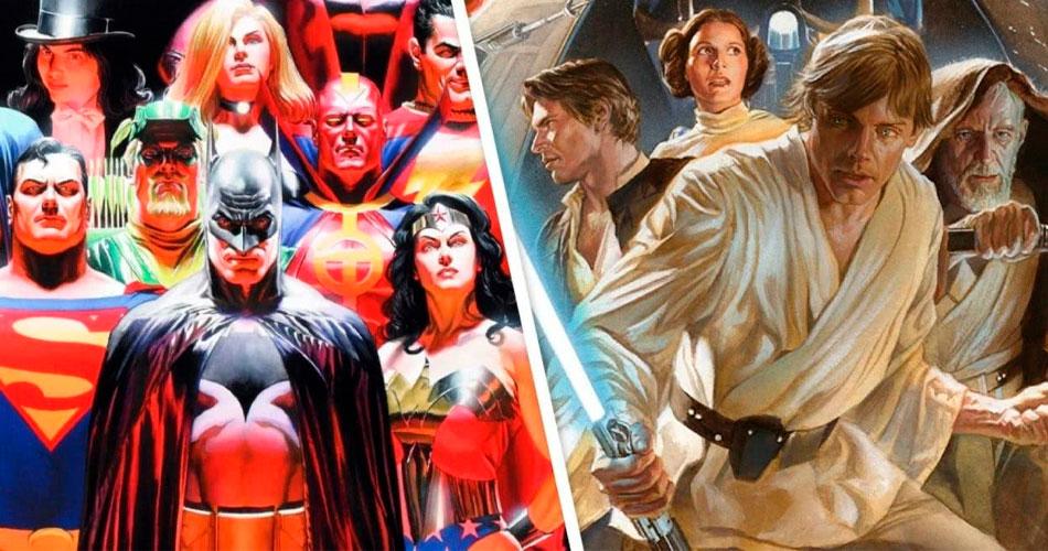 O lendário artista Alex Ross está lançando pinturas de heróis em NFT