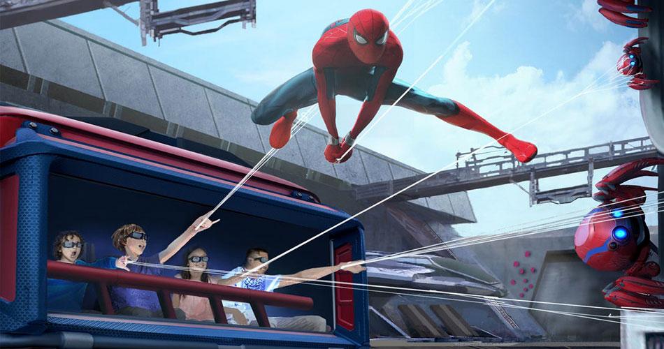 Passeio do Homem-Aranha na Disneyland terá lançadores de teias