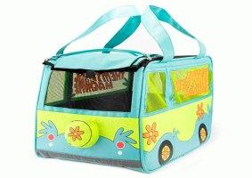 Uma caixa de transporte do Scooby-Doo para carregar pets