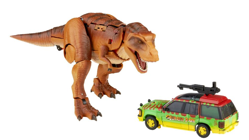 Transformers e Jurassic Park se juntam nova coleção de brinquedos