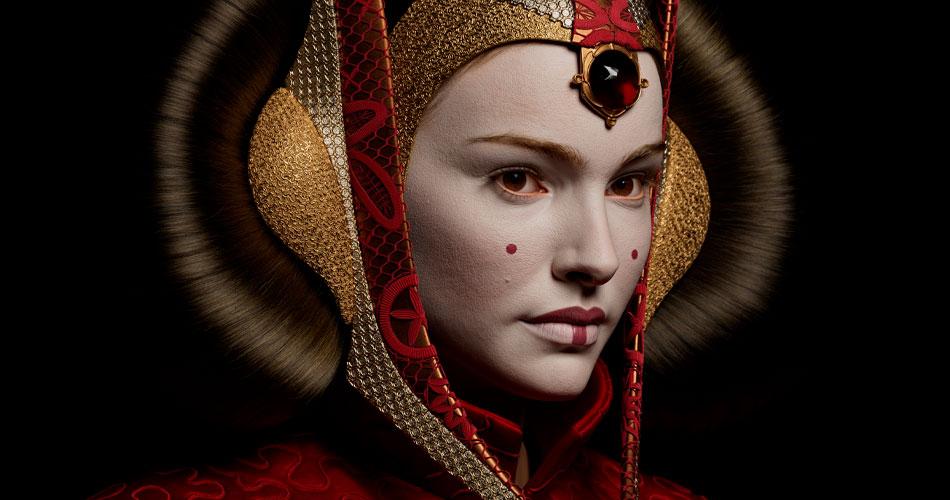 Artista recria Rainha Amidala em 3D com realismo impressionante