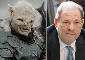 Orc do filme Senhor dos Anéis foi desenhado para parecer Harvey Weinstein