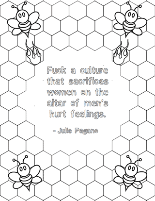 Free Printables: Feminist Colouring Pages