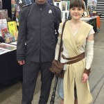 Rey with Starfleet escort