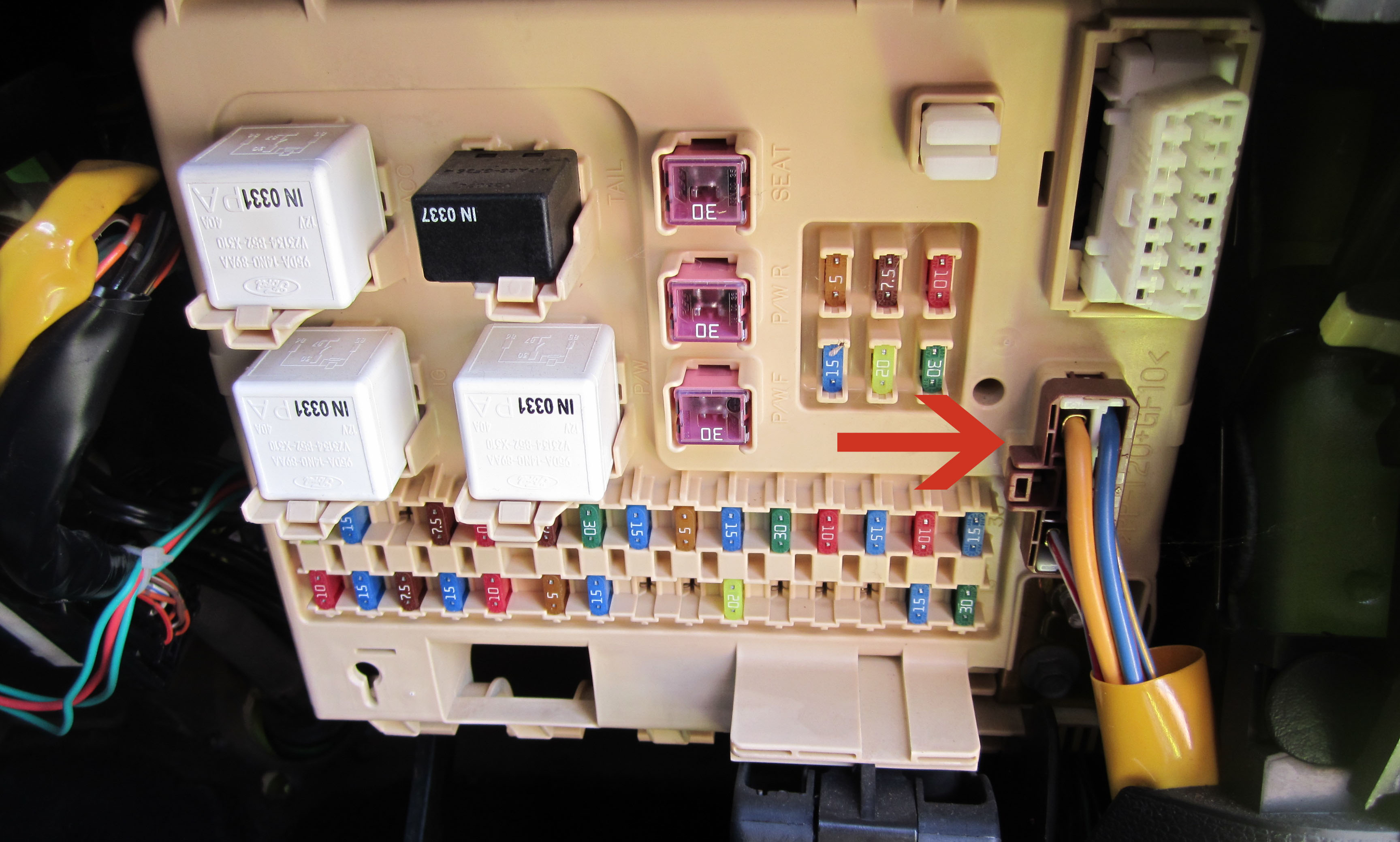 au ford fuse box diagram