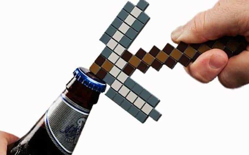 Minecraft Pick Axe Bottle Opener