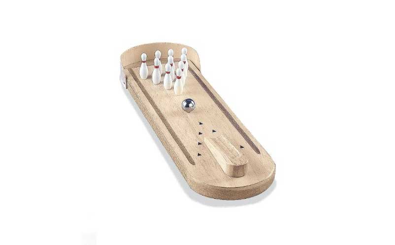 Wooden Mini Bowling Game