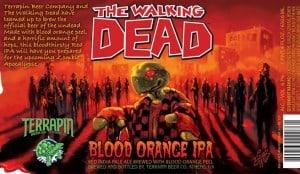 The Walking Dead blood orange beer