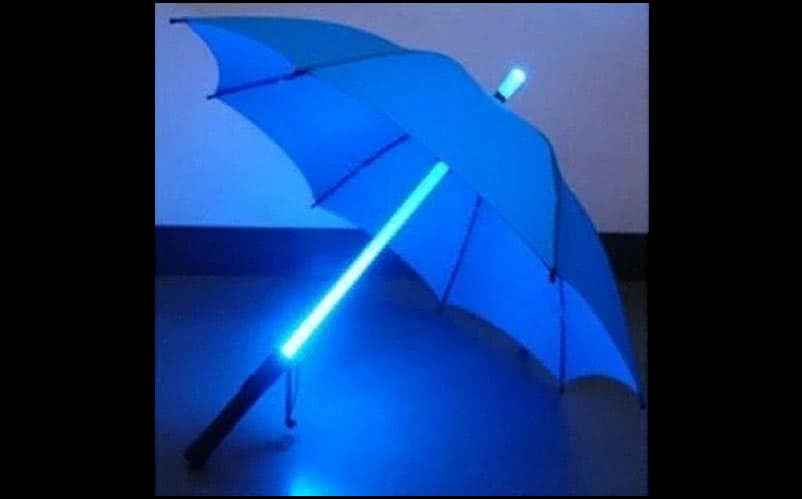 blue LED umbrella