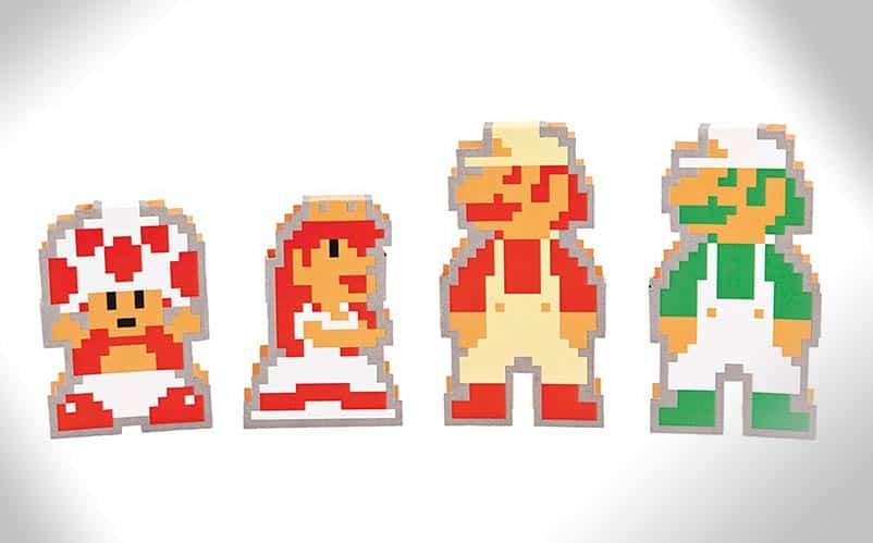 Super Mario Die Cut Notecards