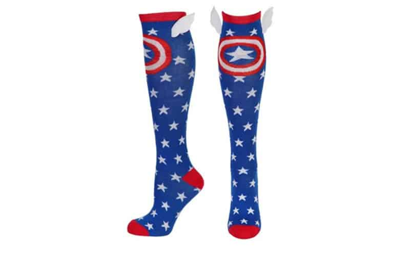 Captain America Shield and Stars High Socks With Wings