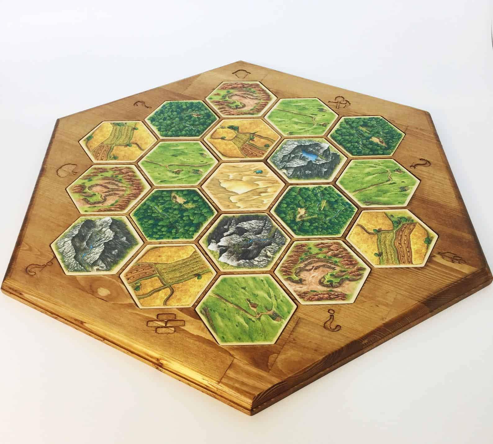 settlers of catan wood