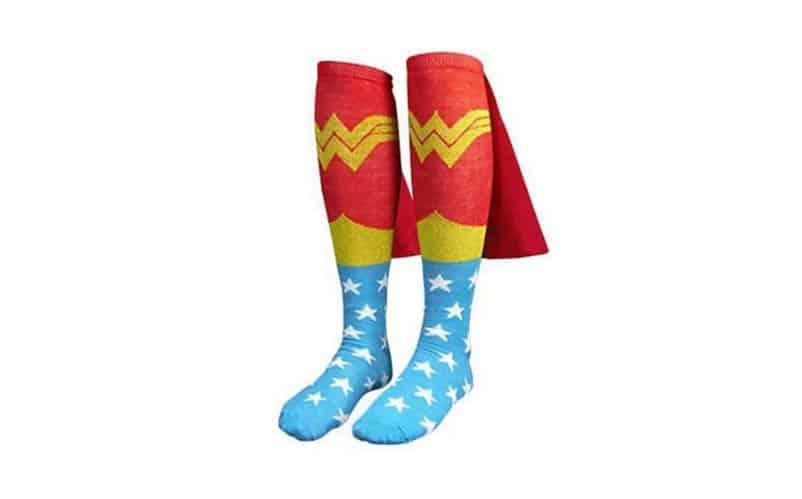 Knee High Wonder Woman Cape Socks