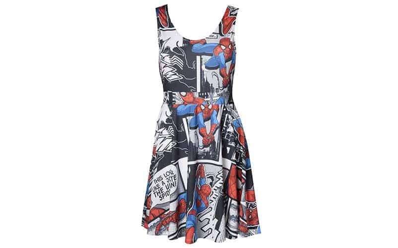 Spider-Man Print Dress