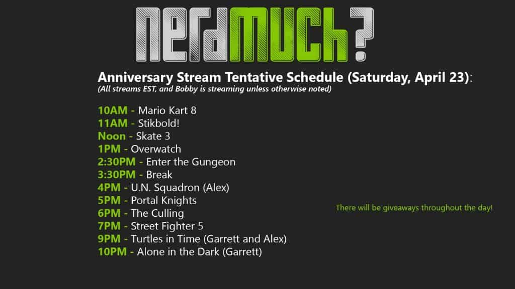 Streaming-Schedule