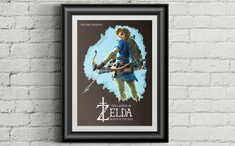 Breath of the Wild Game Poster A3 or A4