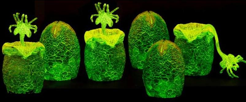 glow in the dark neca alien eggs
