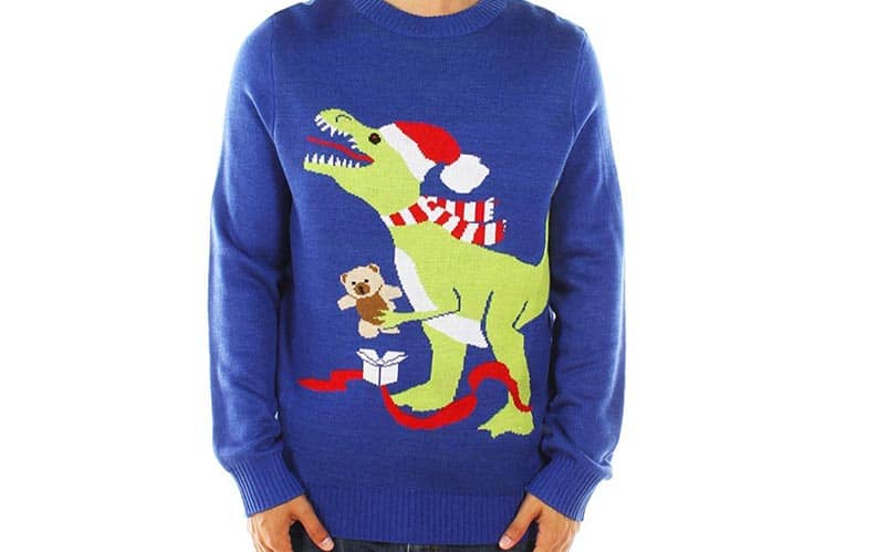 trex christmas sweater
