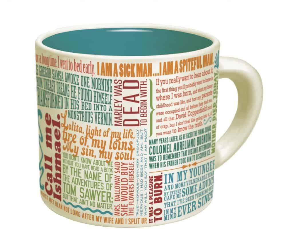 First Lines of Literature Mug