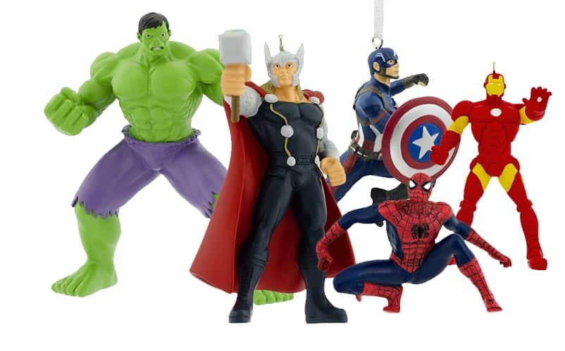 Marvel Christmas Ornaments