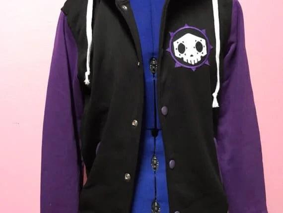 Sombra Inspired Varsity Hooded Jacket