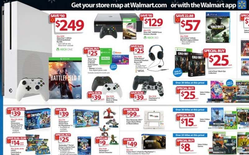 walmart black friday gaming deals