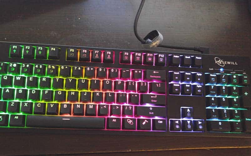 9beb0be0625 Rosewill RK-9000V2 RGB Mechanical Gaming Keyboard Review | Nerd Much?