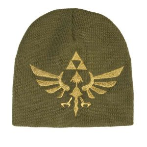Zelda: Green Beanie with Hylian Crest