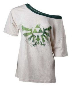 Zelda: Hylian Crest Off Shoulder Ladies T-shirt