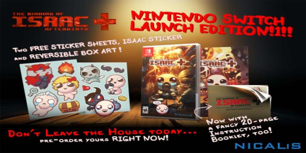 The Binding of Isaac Delayed For The Nintendo Switch