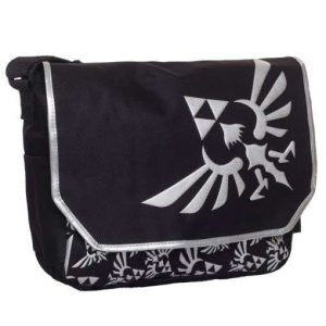 Zelda: Messenger Bag with Embroidered Hylian Crest Logo