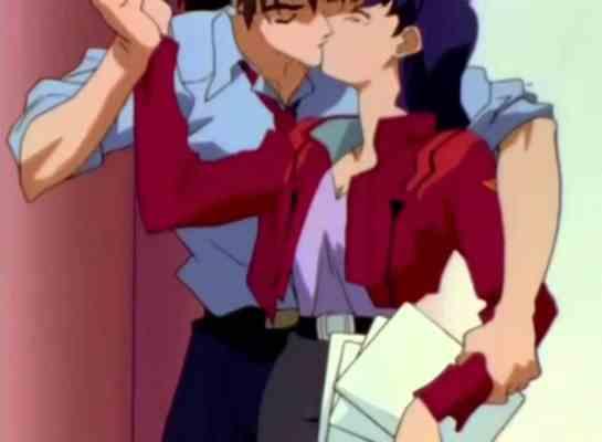 Misato Katsuragi & Kaji Ryoji (Neon Genesis Evangelion)