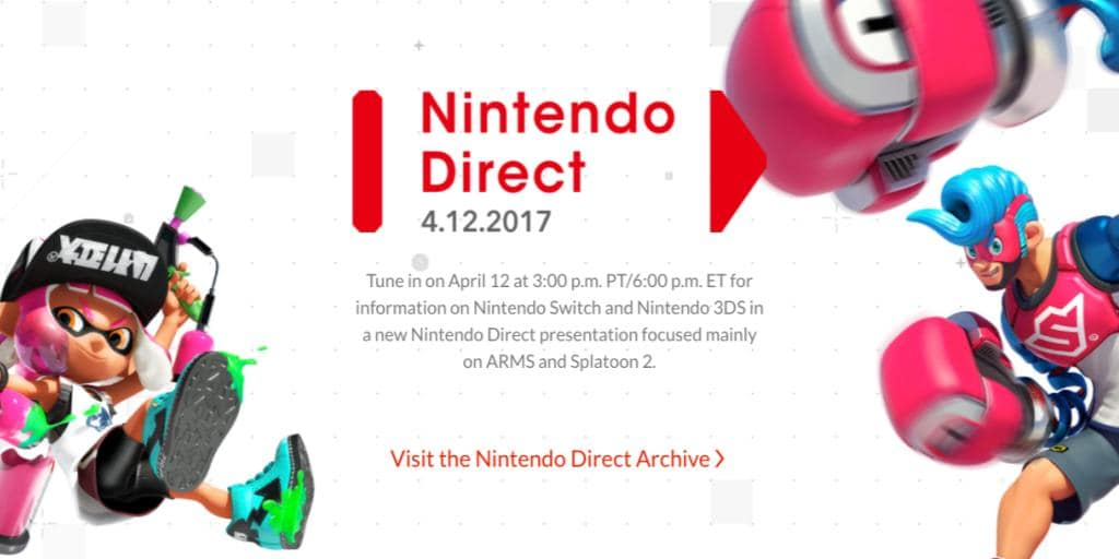Nintendo Direct To Focus On ARMS and Splatoon 2