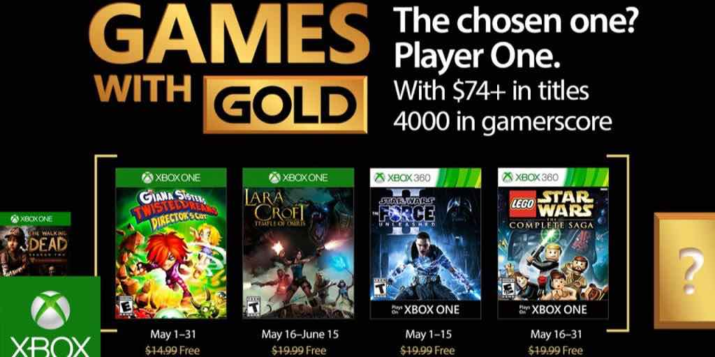 Xbox: Games With Gold For May