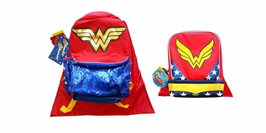 Wonder Woman Lunch Box and Backpack Set
