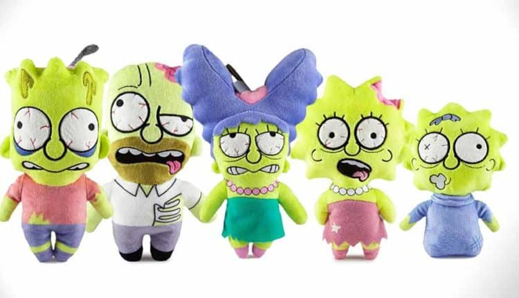 simpsons zombie plush toys