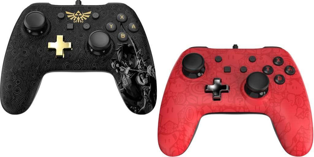 Nintendo Switch Zelda and Mario Themed Controllers