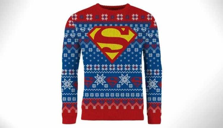 superman christmas sweater
