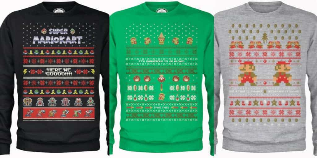 Retro Nintendo Christmas Sweaters