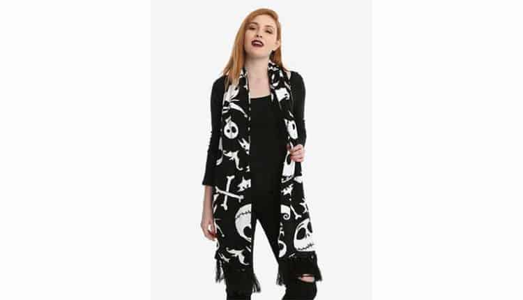 The Nightmare Before Christmas Knit Scarf – $21.52