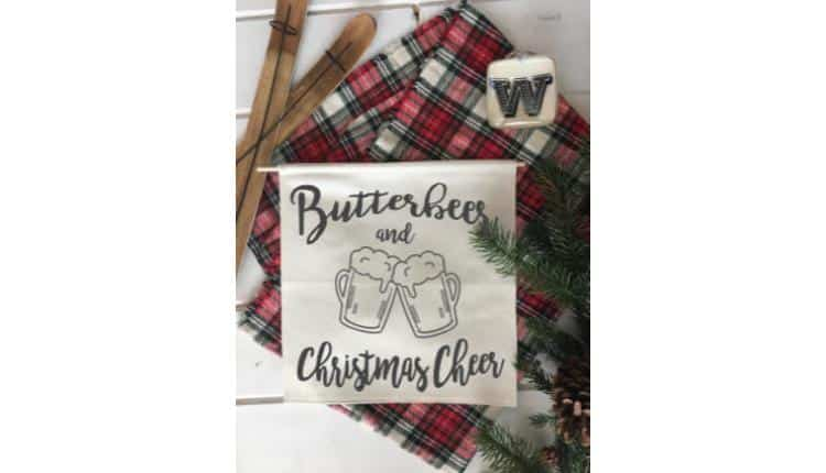 Butterbeer and Christmas Cheer Banner